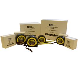 Kingfisher branded tape measures