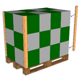 Propak Cardboard Edgeboards on pallet