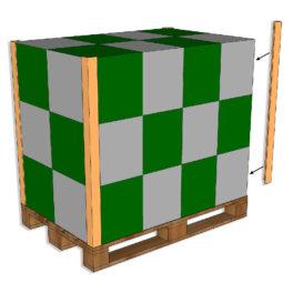 Propak Cardboard Edgeboards on pallet