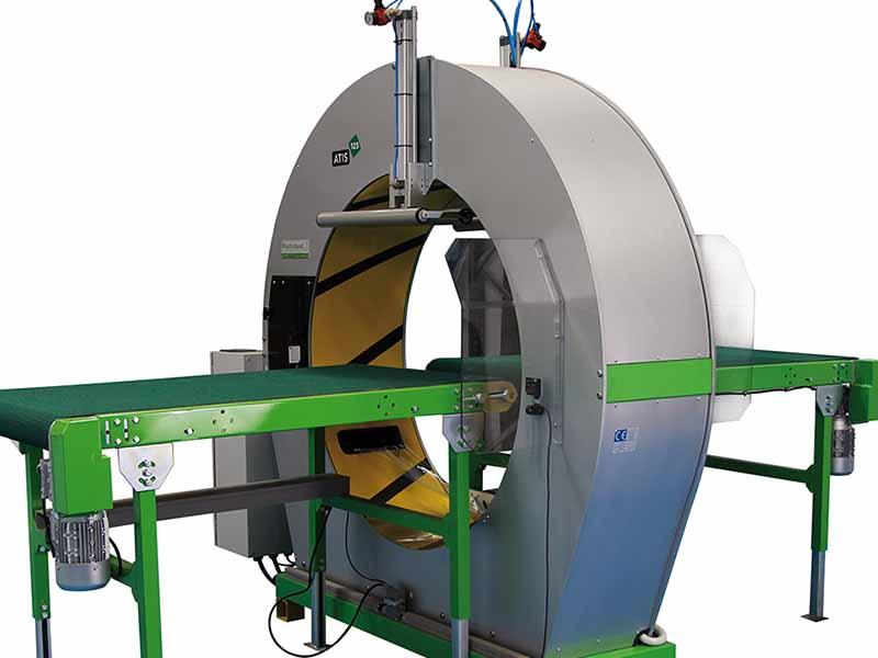 Atis 125 semi automatic spiral wrapping machine