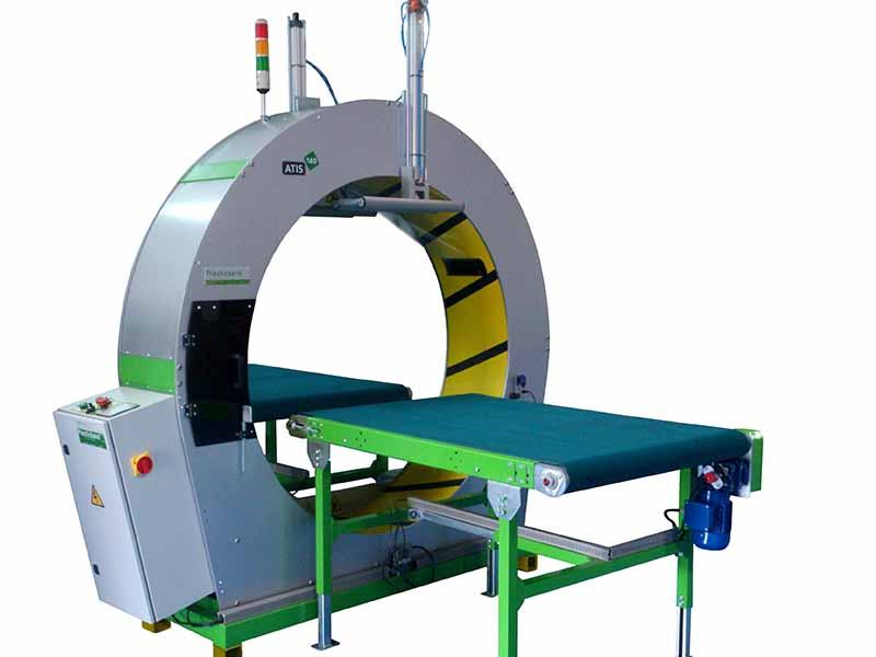 Atis 160 semi automatic spiral wrapping machine