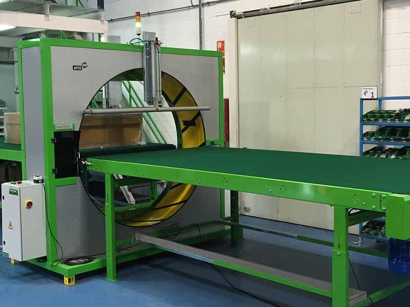 Atis 200 semi automatic spiral wrapping machine