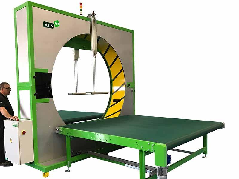 Atis 250 semi automatic spiral wrapping machine