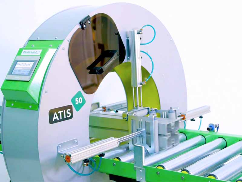 Atis 50 semi automatic spiral wrapping machine