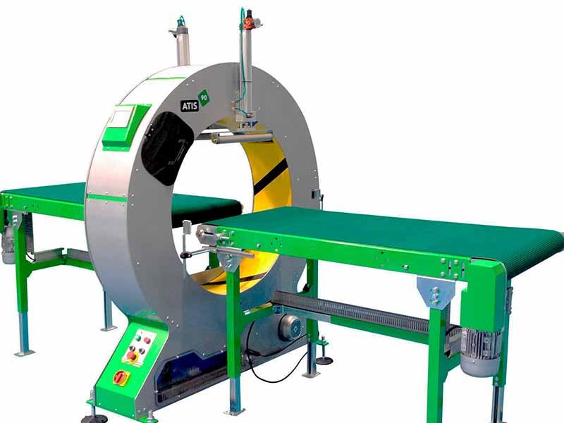 Atis 90 semi automatic spiral wrapping machine