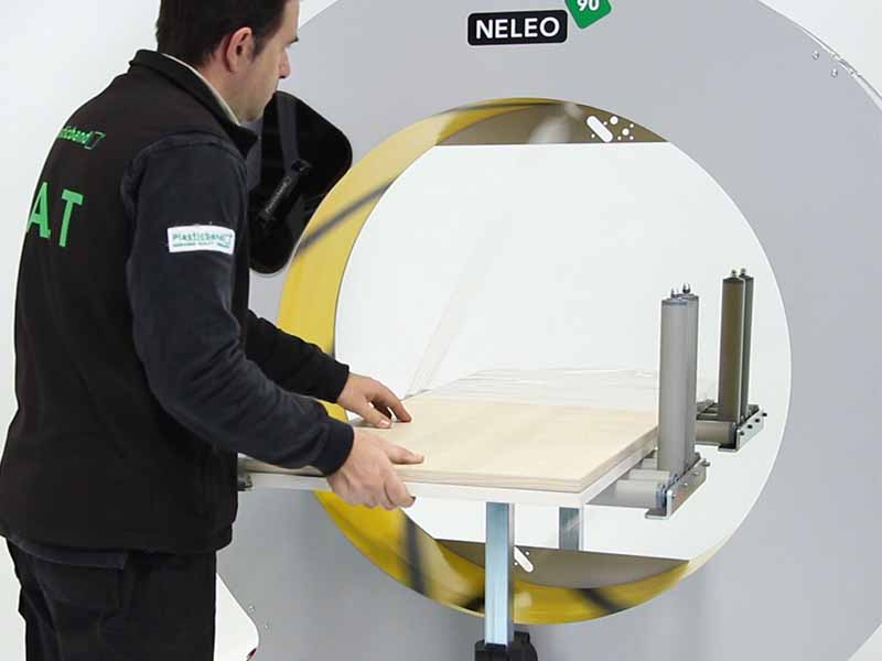 Neleo-90-semi-automatic-spiral-wrapping-machine