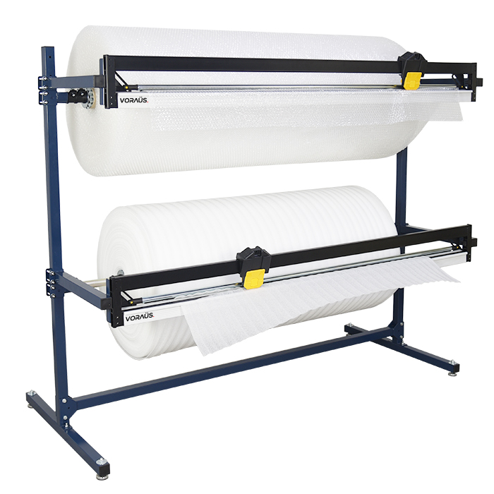 1500mm Double Roll Dispenser with 2 Cutters for Bubble, Foam & Poly