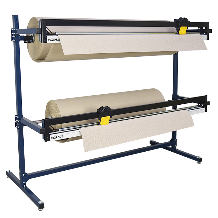 1500mm Double Roll Dispenser with 2 Cutters for Cardboard & Paper