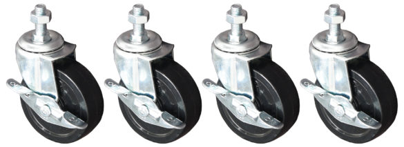 Optional Braked Castors for All Roll Dispensers