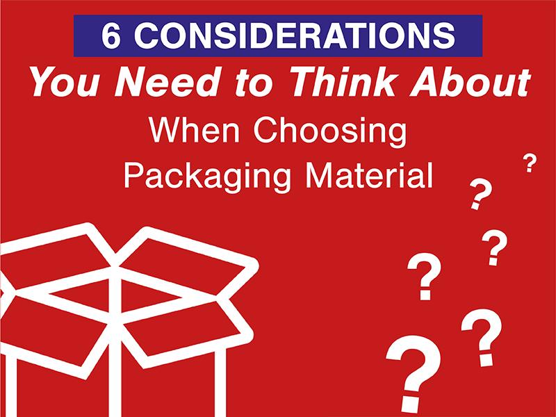 Kingfisher Packaging - Choosing Packaging Material