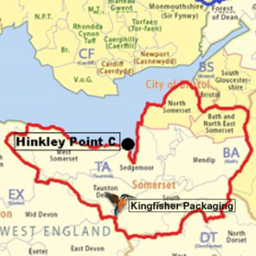 Hinkley Point C Location Map