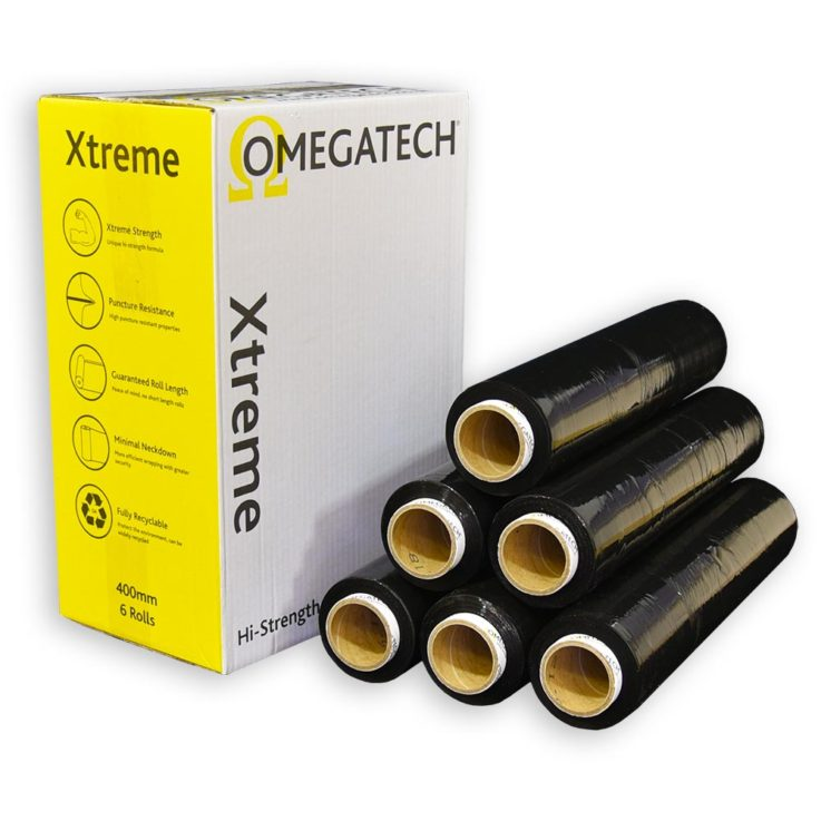 Xtreme 25 Identi-Film Coloured Pallet Wrap Black 400