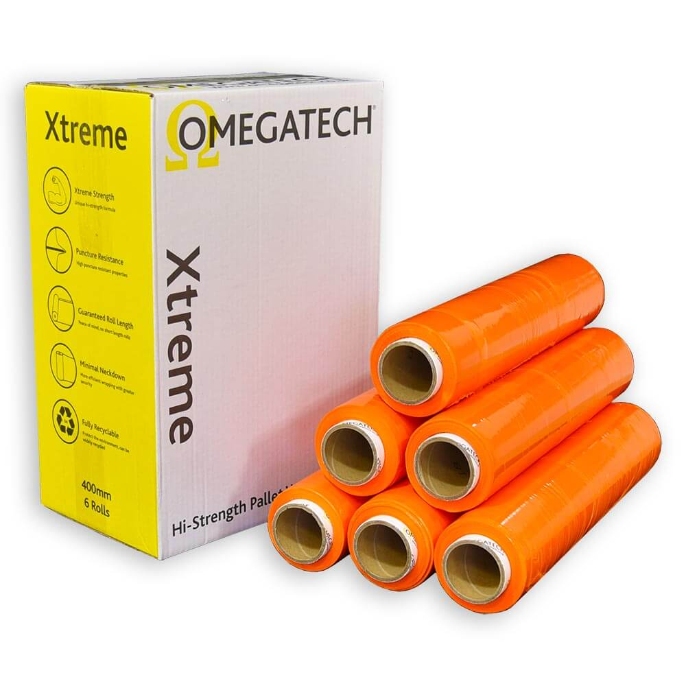 Opaque Orange Coloured Pallet Wrap