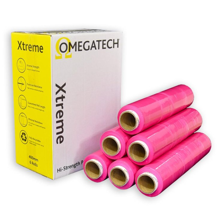 Xtreme 25 Identi-Film Coloured Pallet Wrap Pink