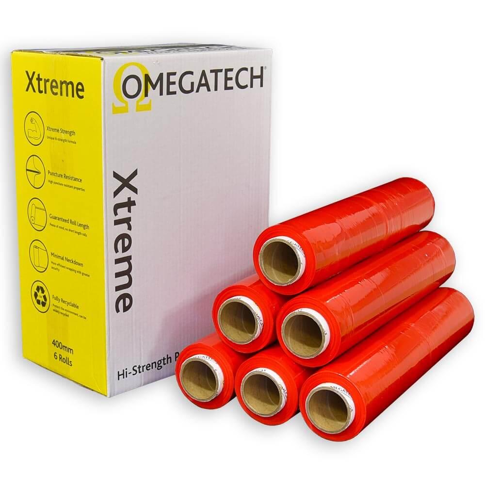 Xtreme 25 Identi-Film Coloured Pallet Wrap Red