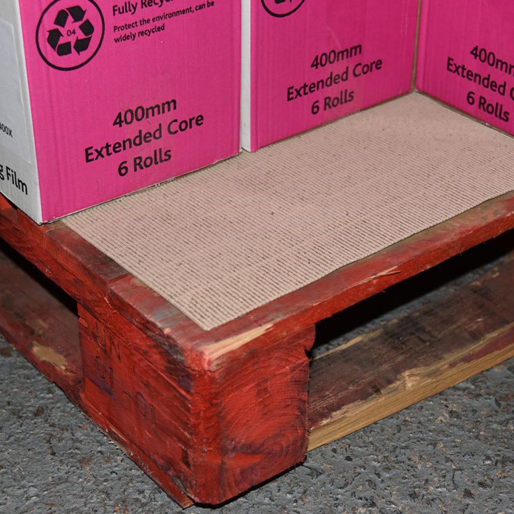 Actus Premium Protective Cardboard Layer Board on pallet with boxes