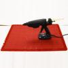 GG-SML Flexible Silicone Mat for Glue Guns 600 x 400mm with gun
