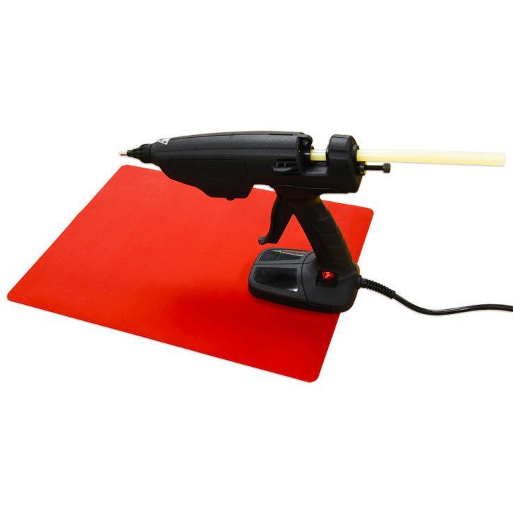 GG-SMS Flexible Silicone Mat for Glue Guns 400 x 300mm with gun