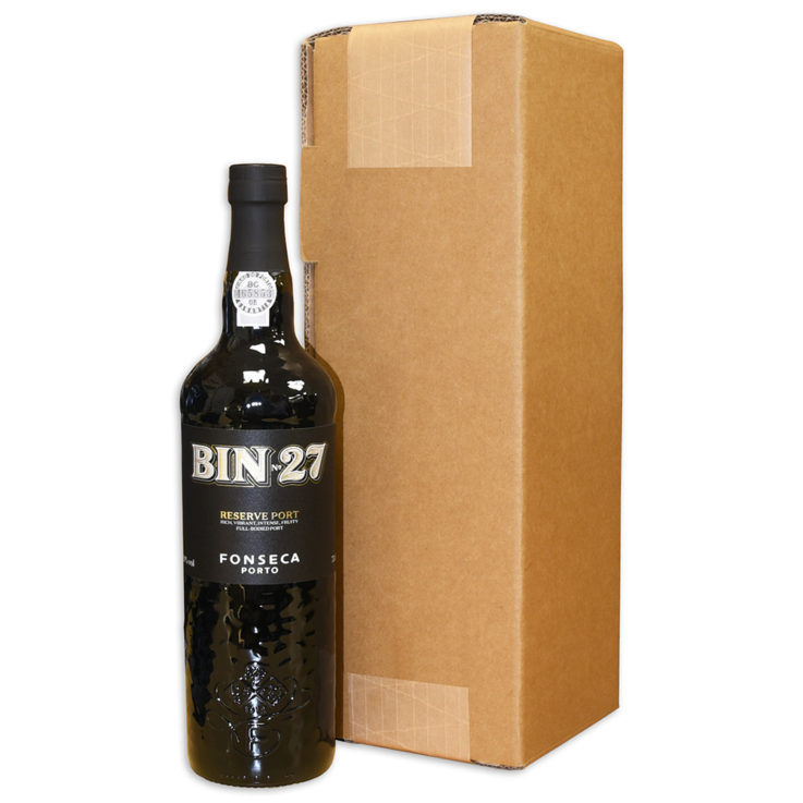 Box with Port Bottle