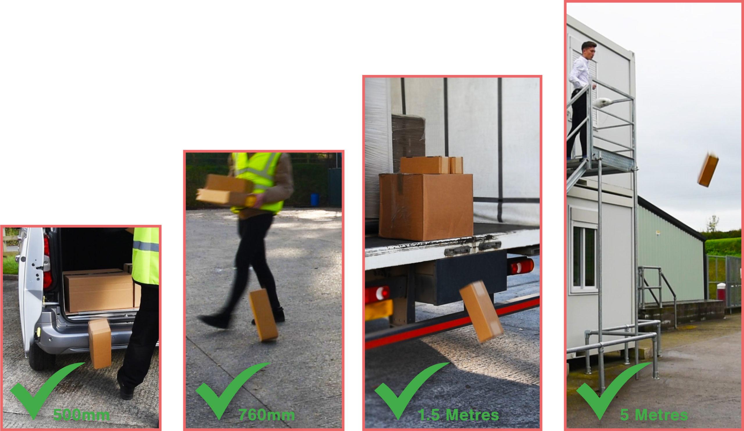 Actuspack Heavy Duty Bottle Pack - All Drop Tests
