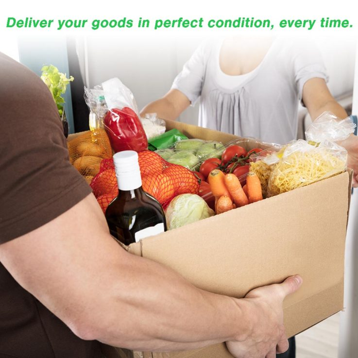 Home Delivery Service Packaging - Man Giving Grocery Box To Woman