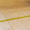 Social Distancing Printed Floor Marking Tape on Stone Floor