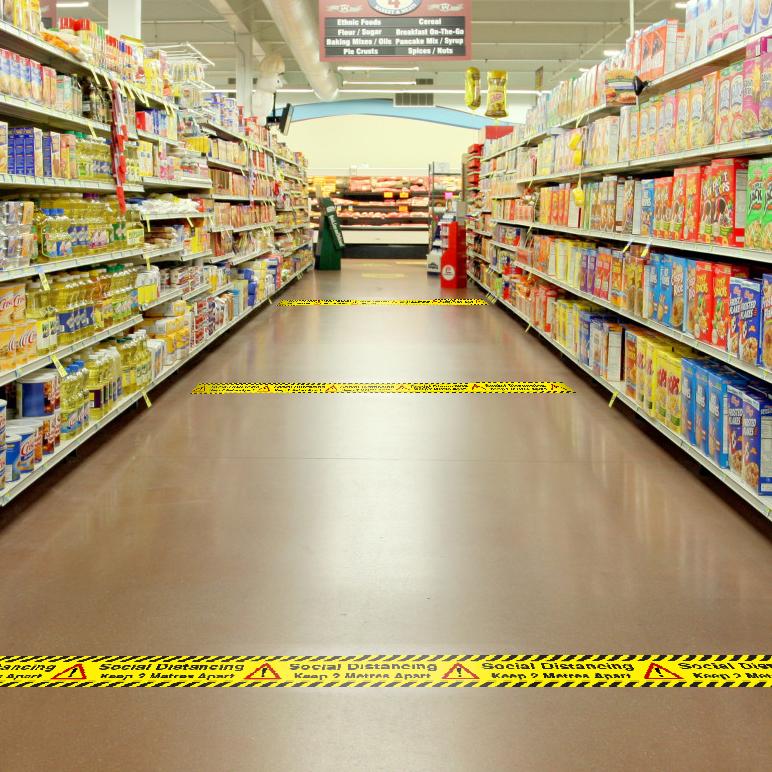 Social Distancing Printed Floor Marking Tape
